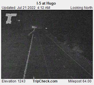 RoadCam - I-5 at Hugo NB