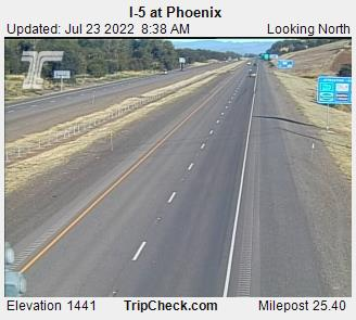 I-5 Phoenix OR, elevation 1480. Courtesy Oregon Department of Transportation