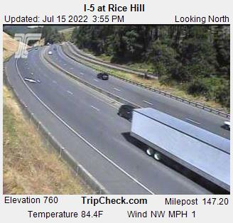 Interstate 5 Rice Hill, MP 147.20. Courtesy ODOT.