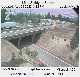 RoadCam - I-5 at Siskiyou Summit
