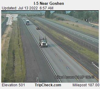 RoadCam - I-5 at Goshen