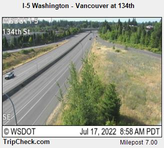 RoadCam - I-5 Washington - Vancouver at 134th