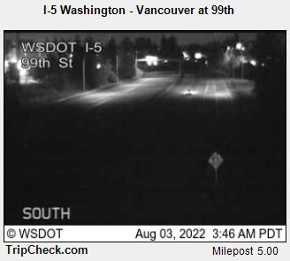 RoadCam - I-5 Washington - Vancouver at 99th