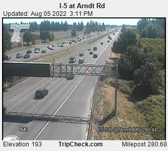 RoadCam - I-5 at Arndt Rd
