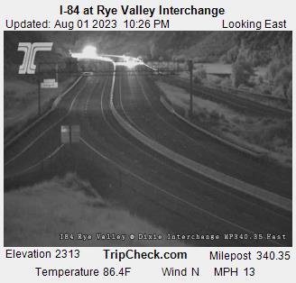 I 84 At Rye Valley Interchange Oregon Road And Traffic Cam