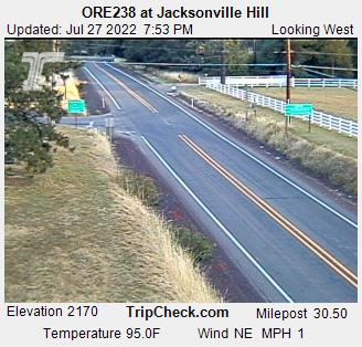 Highway 238 at Jacksonville Hill, Courtesy ODOT.