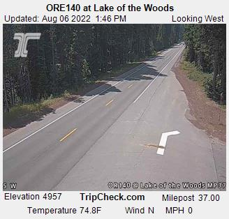 Highway 140 near Lake of the Woods, between  Medford and Klamath Falls, Oregon.  Courtesy Oregon Department of Transportation.