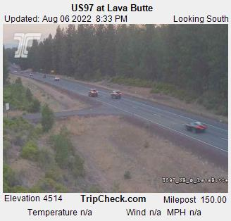 RoadCam - US 97 at Lava Butte
