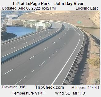 RoadCam - I-84 at LePage Park - John Day River