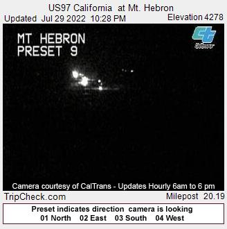RoadCam - US97 California at Mt. Hebron