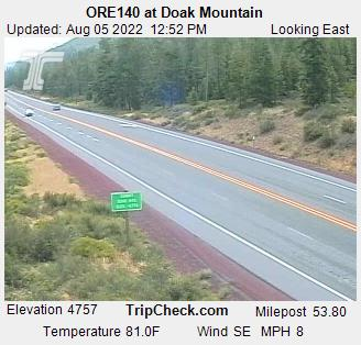Highway 140 at Doak Mountain between  Medford and Klamath Falls, Oregon.  Courtesy Oregon Department of Transportation.
