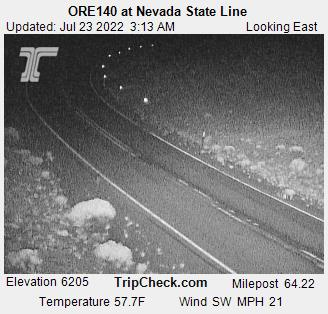Nevada Line on the Winnemucca to the Sea Highway, 140, courtesy Oreogn Department of Transportation.