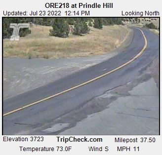 ORE218 at Prindle Hill, Oregon Road and Traffic Cam