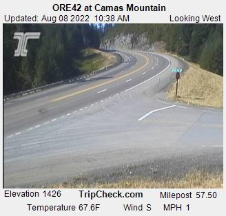 RoadCam - ORE42 at Camas Mountain [WB]