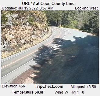 RoadCam - ORE42 at Coos County Line