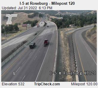RoadCam - I-5 at Roseburg MP 120