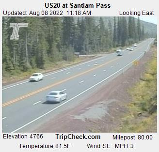RoadCam - US20 at Santiam Pass