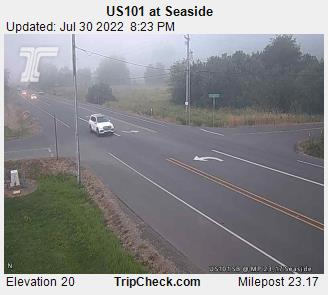 Highway 101 Seaside. Courtesy ODOT.