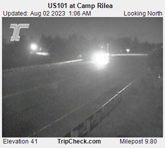 Us101 At Camp Rilea Oregon Road And Traffic Cam