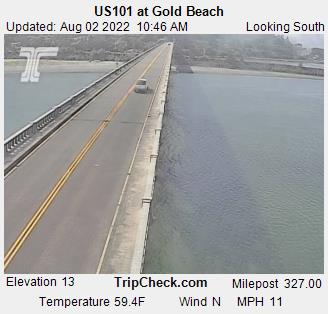 Gold Beach, Oregon, US 101 at the Rogue River bridge.