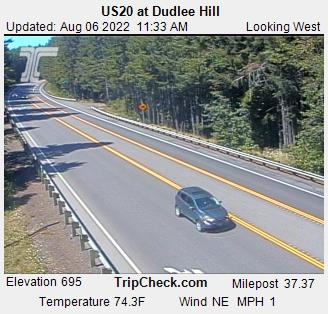 Us20 At Dudlee Hill Oregon Road And Traffic Cam