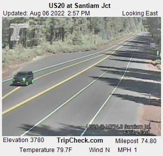 RoadCam - US20 at Santiam Jct