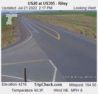 US20 at US395 - Riley, Oregon Road and Traffic Cam