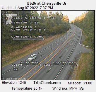 RoadCam - US26 EB at Cherryville