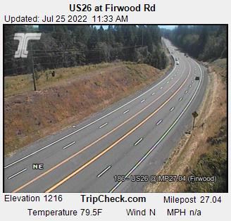 RoadCam - US26 EB at Firwood Rd