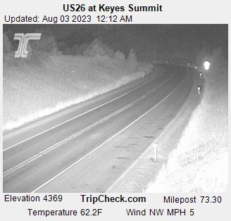 US26 at Keyes Summit, Oregon Road and Traffic Cam