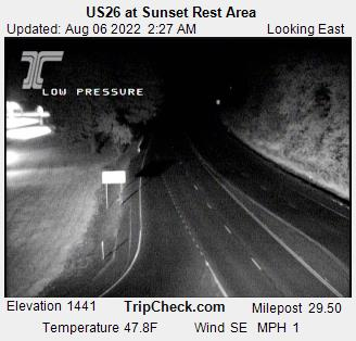 Us26 At Sunset Rest Area Oregon Road And Traffic Cam