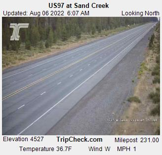 RoadCam - US97 at Sand Creek