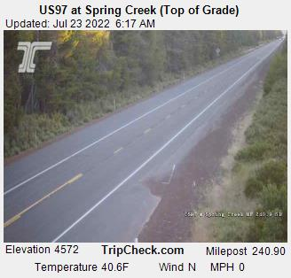 RoadCam - US97 at Spring Creek (Top of Grade)