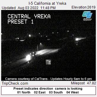 RoadCam - I-5 California at Yreka