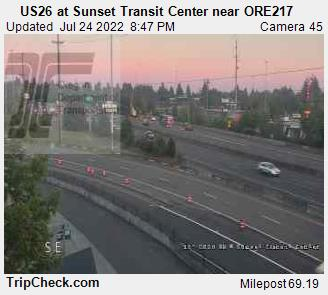RoadCam - US26 at Sunset Transit Center near ORE217