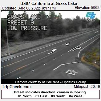 RoadCam - US97 California at Grass Lake