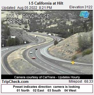 RoadCam - I-5 California at Hilt