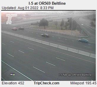 RoadCam - I-5 Eugene at OR569