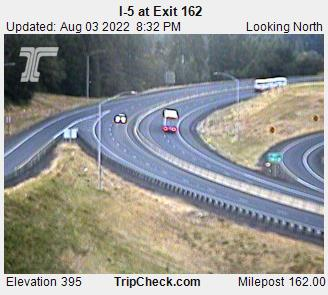 RoadCam - I-5 at Exit 162