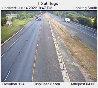 RoadCam - I-5 at Hugo SB