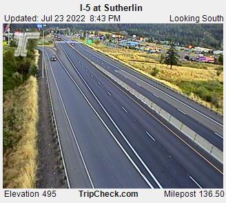 RoadCam - I-5 at Sutherlin
