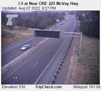 RoadCam - I-5 at Eugene - South
