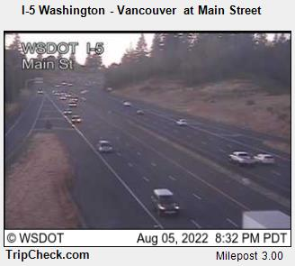 RoadCam - I-5 Washington - Vancouver at Main Street