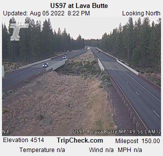 RoadCam - US97 at Lava Butte