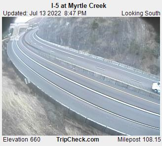 RoadCam - I-5 at Myrtle Creek S