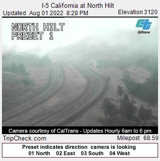 RoadCam - I-5 California at North Hilt