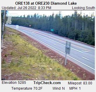 RoadCam - ORE230 at ORE138 Diamond Lake