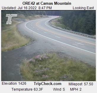 RoadCam - ORE42 at Camas Mountain [EB]