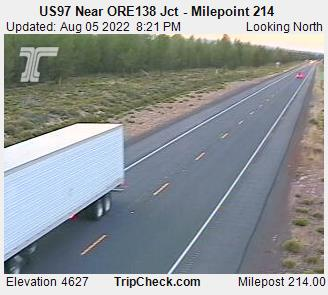 RoadCam - US97 Near ORE138 Jct - Milepoint 214