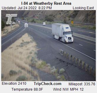 RoadCam - I-84 at Weatherby Rest Area